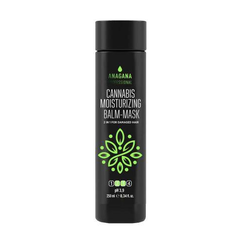 Бальзам-маска 2 в 1 увлажняющий с маслом каннабиса для поврежденных волос