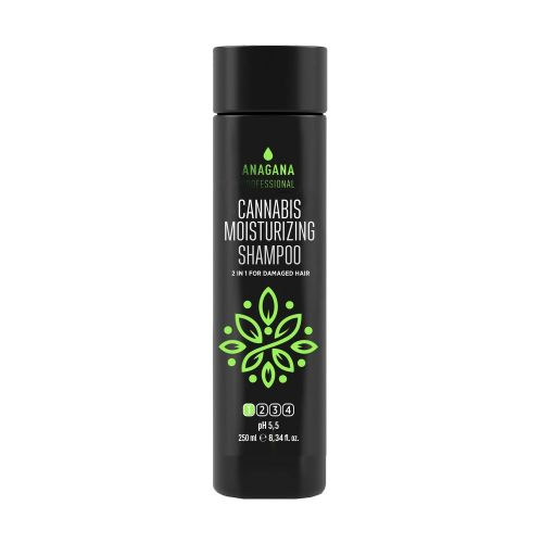 Шампунь увлажняющий с маслом каннабиса для поврежденных волос
