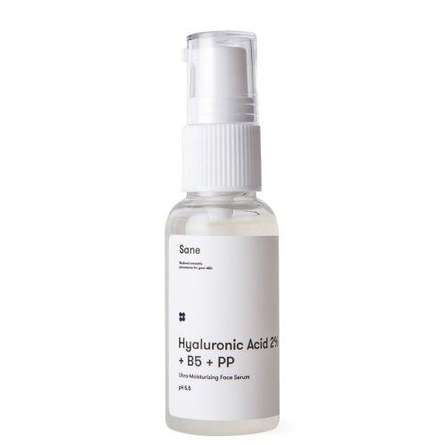 Сыворотка для лица Sane с гиалуроновой кислотой + В5 РР