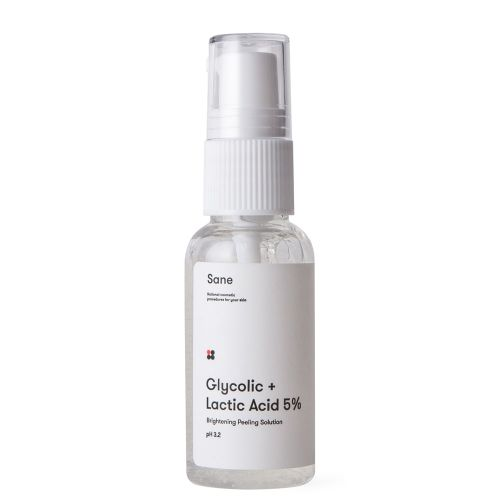 Пилинг для лица Sane с гликолевой и молочной кислотой 5%